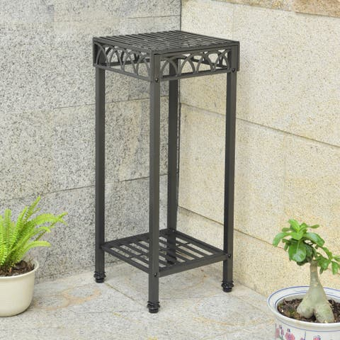 Segovia 2-Tier Iron Indoor/Outdoor Plant Stand