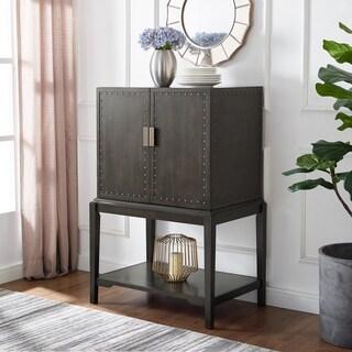 Carbon Loft Meyers Dark Brown Industrial Bar Storage Cabinet