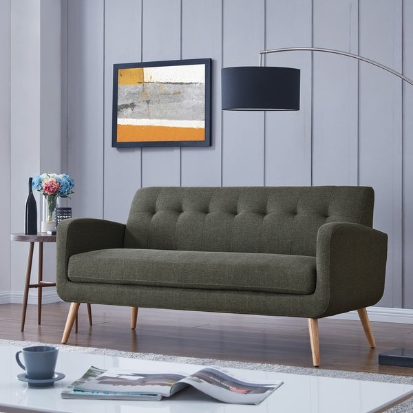 Shop Handy Living Kingston Mid Century Modern Sofa On Sale Free