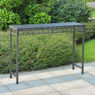 Segovia Iron Indoor/Outdoor Console Table