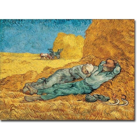 La Meridienne (The Siesta) by Vincent Van Gogh Gallery Wrapped Canvas Giclee Art (24 in x 32 in, Ready to Hang)