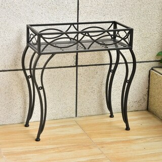 International Caravan Segovia Iron Rectangular Indoor/Outdoor Plant Stand