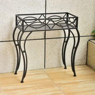 Segovia Iron Rectangular Indoor/Outdoor Plant Stand