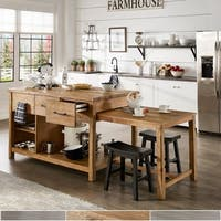 Tali Reclaimed Wood Extendable Kitchen Island by iNSPIRE Q Classic