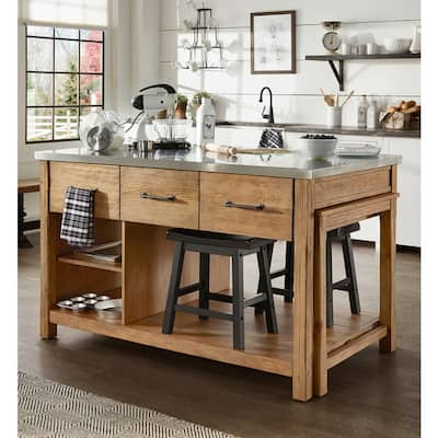 Buy Silver Kitchen Islands Online at Overstock | Our Best ...