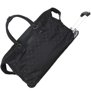 Kenneth Cole Reaction 22in Polka Dot Printed Top Zip 2-Wheel Women's Duffel / Carry On Pullman Suitcase