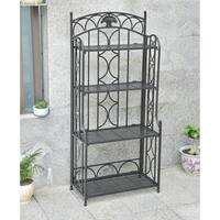 Segovia 4-Tier Iron Folding Bakers Rack