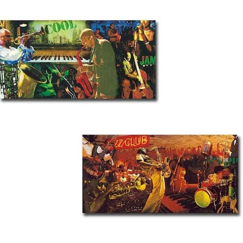 Cool Jazz & Bebop by Tyler Burke 2-piece Gallery Wrapped Canvas Giclee Art Set (Ready to Hang)