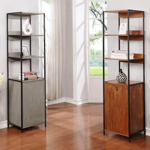 Furniture of America Kadijah Contemporary Acacia 3-shelf Storage Bookshelf