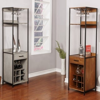 Link to Furniture of America Soby Contemporary Solid Wood 3-shelf Wine Rack Similar Items in Dining Room & Bar Furniture
