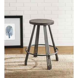 ACME Davin 5 Pieces Pack Counter Height Set, Gray Oak and Gunmetal