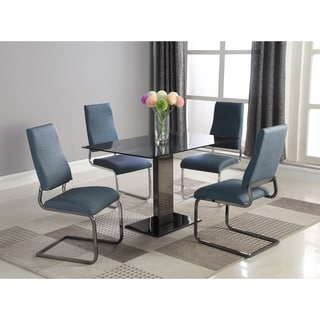 Somette Alyana 5-piece Dining Set with Grey Chairs