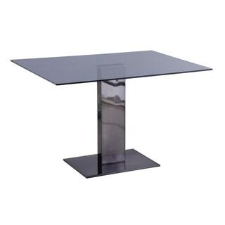 Somette Alyana Black Rectangular Dining Table
