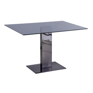 Somette Alyana Black Rectangular Dining Table - N/A