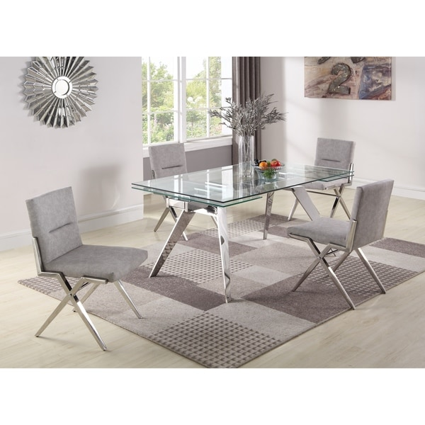 Somette Joana 5-Piece Dining Set with Faith Chairs