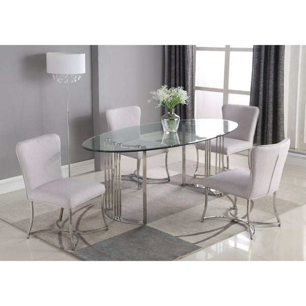 Somette Melanie 5-Piece Dining Set with Summer Chairs