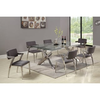 Somette Patricia Rectangular 5-Piece Dining Set with Gray Chairs