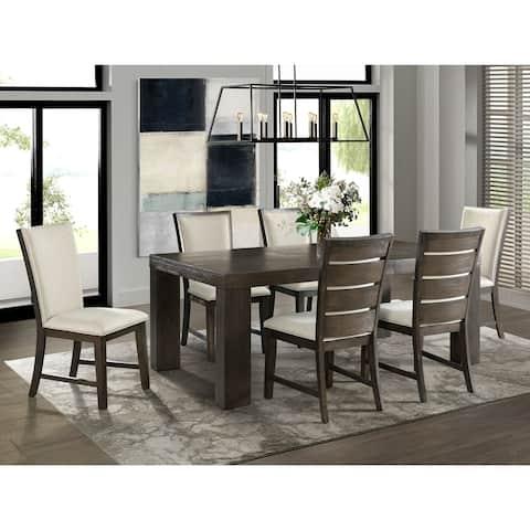 Picket House Furnishings Jasper 7PC Dining Set-Table & Six Slat Back Chairs
