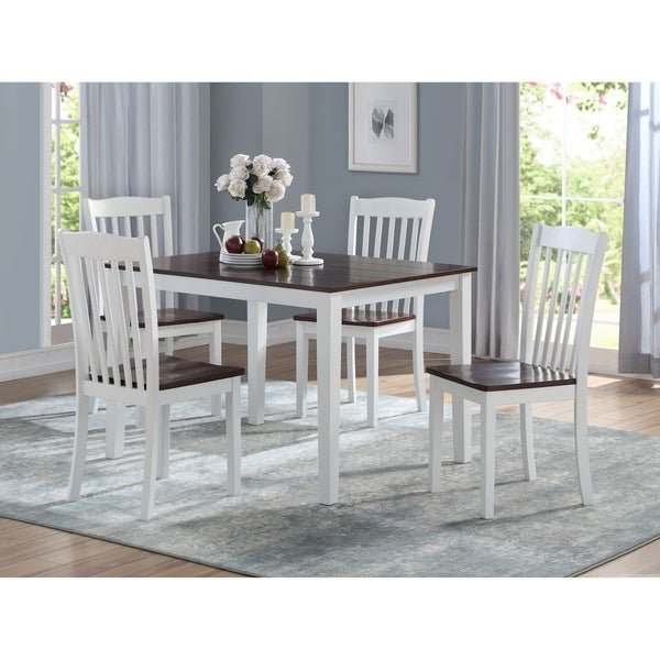 Shop ACME Green Leigh 5-pc Pack Dining Set In White And