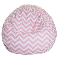 Majestic Home Goods Cotton Chevron Large Classic Bean Bag Chair