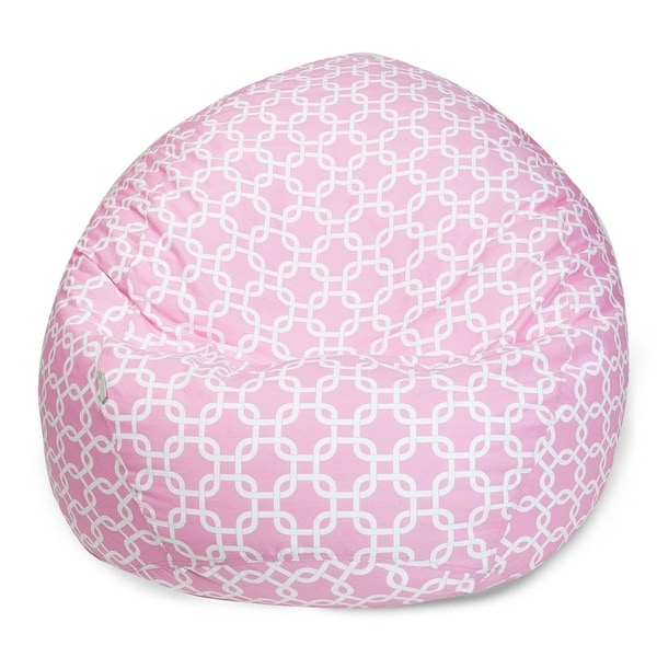 Majestic Home Goods Cotton Links Large Classic Bean Bag Chair