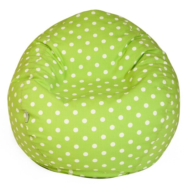 Majestic Home Goods Small Polka dot Large Classic Bean Bag Chair