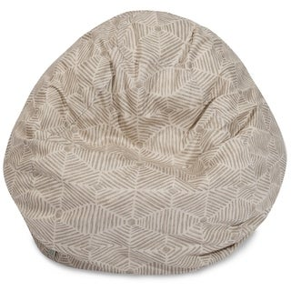 Majestic Home Goods Charlie Cotton Classic Bean Bag Chair Small/Large