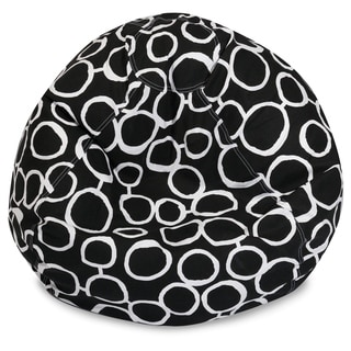 Majestic Home Goods Fusion Cotton Classic Bean Bag Chair Small/Large
