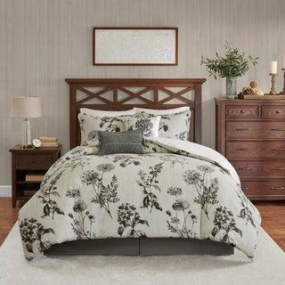 Harbor House Nellie Grey 6-Piece Oversized Reversible Cotton Comforter Set