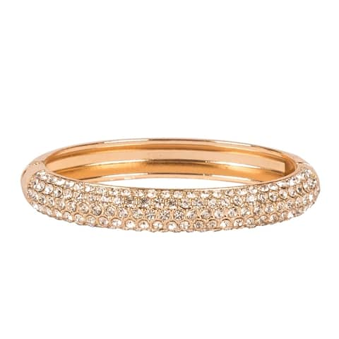 Style Diva Fold Over Clasp Bangle by Gempro - Gold