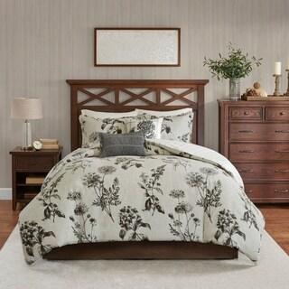 Harbor House Nellie Grey 5-Piece Cotton Reversible Duvet Cover Set