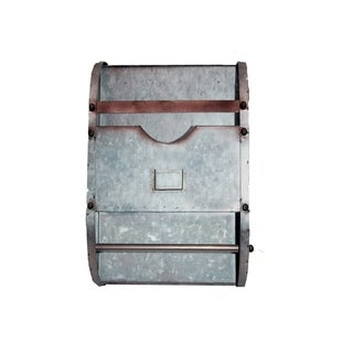 Carbon Loft Galvanized Metal Bathroom Caddy with Label Slot