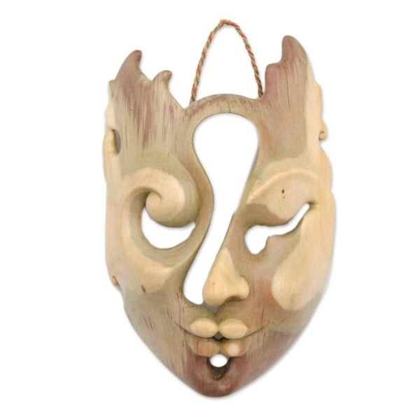 """The Collaboration Wood Mask (Indonesia) - 6.25"""" x 9.5"""""""