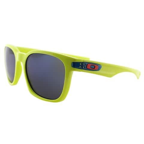Oakley Garage Rock OO 9175 14 Fluorescent Yellow Polarized Sunglasses