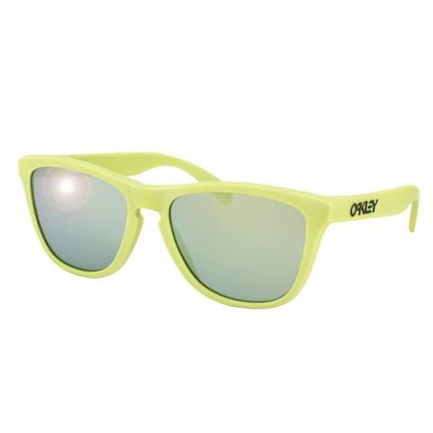 Oakley Square OO 9013 Frogskins24-341 Unisex Aspen Green Frame Emerald Iridium Lens Sunglasses