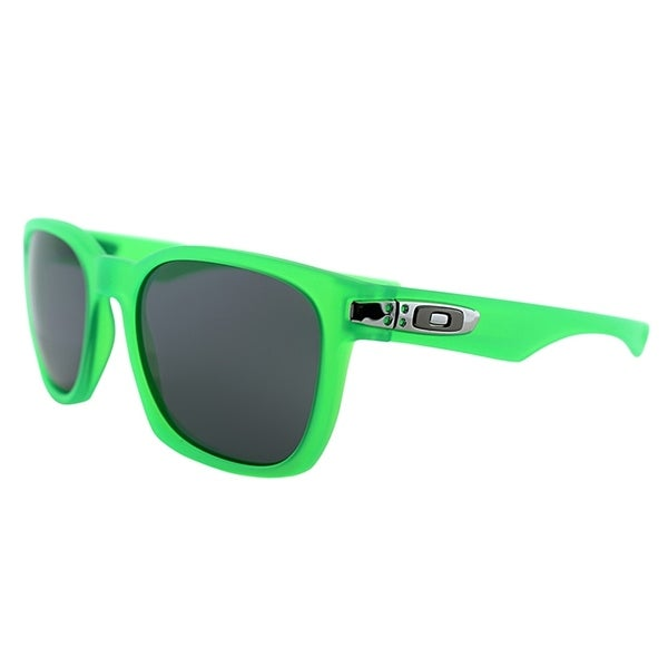 6db347b92bf Oakley Square OO 9175 Garage Rock 18 Unisex Matte Green Frame Grey  Polarized Lens Sunglasses