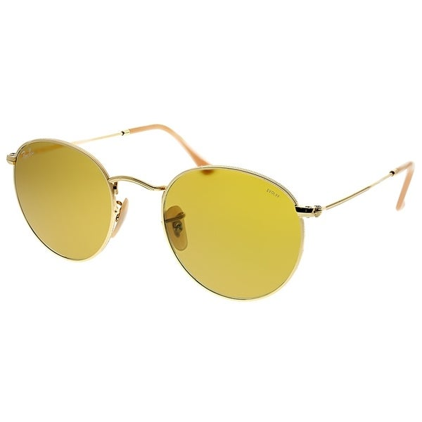 a517f26d4b618 Ray-Ban Round RB 3447 Round Metal 90644I Unisex Gold Frame Brown  Photochromatic Evolve Lens