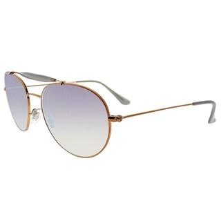 Ray-Ban Aviator RB 3540 198/7X Unisex Bronze Copper Frame Lilac Gradient Flash Lens Sunglasses