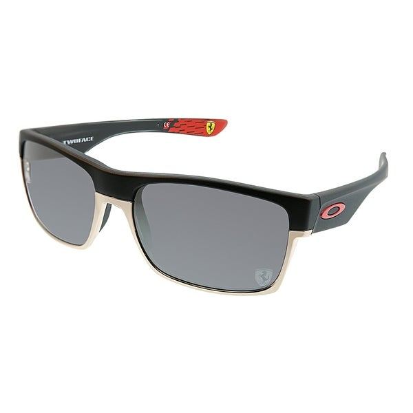 5b63a8320f Oakley Rectangle OO 9189 TwoFace 20 Unisex Matte Black Frame Grey Mirror  Polarized Sunglasses