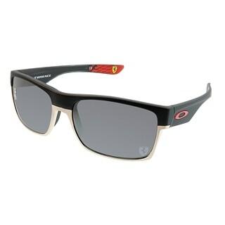 Oakley Rectangle OO 9189 TwoFace 20 Unisex Matte Black Frame Grey Mirror Polarized Sunglasses