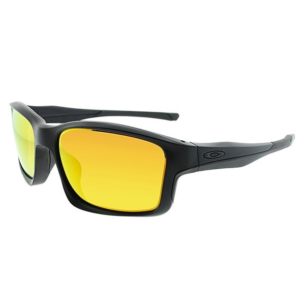 df8be42b9db Oakley Sport OO 9247 ChainLink 03 Unisex Matte Black Frame Fire Iridium  Polarized Sunglasses