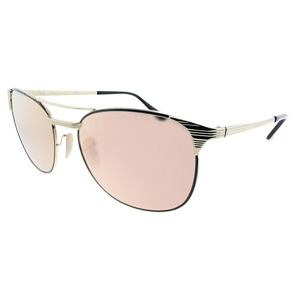 3b4c8627bfb Ray-Ban Square RB 3429M Signet 9000Z2 Unisex Gold Black Frame Copper Flash  Lens Sunglasses