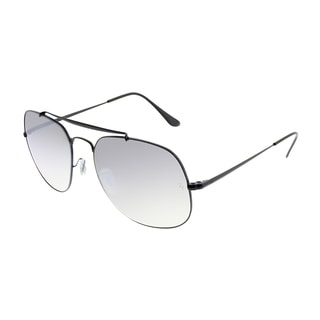Link to Ray-Ban Aviator RB 3561 The General 002/9U Unisex Black Frame Silver Gradient Flash Lens Sunglasses Similar Items in Men's Sunglasses