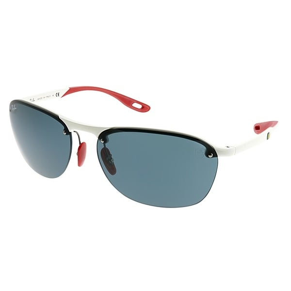 083c047cae Ray-Ban Rimless RB 4302M Scuderia Ferrari Collection F62587 Unisex White  Frame Grey Lens Sunglasses