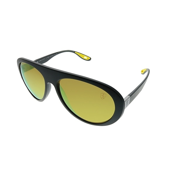 acb5f3445f6 Ray-Ban Aviator RB 4310M Scuderia Ferrari Collection F6086B Unisex Matte  Grey Frame Yellow Mirrored
