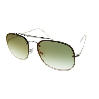 Link to Ray-Ban Aviator RB 3583N Blaze General 003/W0 Unisex Silver Frame Green Gradient Mirror Lens Sunglasses Similar Items in Men's Sunglasses