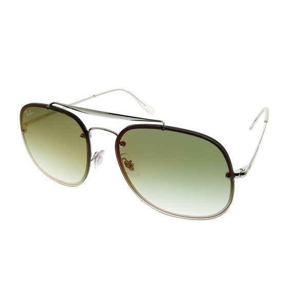 676e79a14faa0 Ray-Ban Aviator RB 3583N Blaze General 003 W0 Unisex Silver Frame Green  Gradient