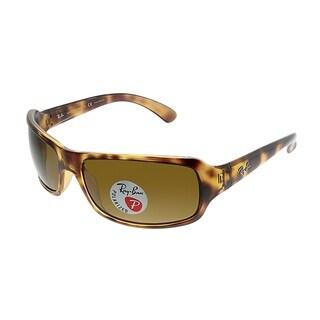 Ray-Ban Wrap RB 4075 642/57 Women Havana Frame Brown Polarized Lens Sunglasses