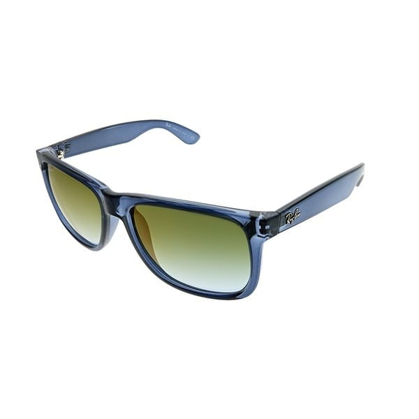 12a375f29c Ray-Ban Square RB 4165 Justin 6341T0 Unisex Trasparent Blue Frame Green  Gradient Mirror Lens