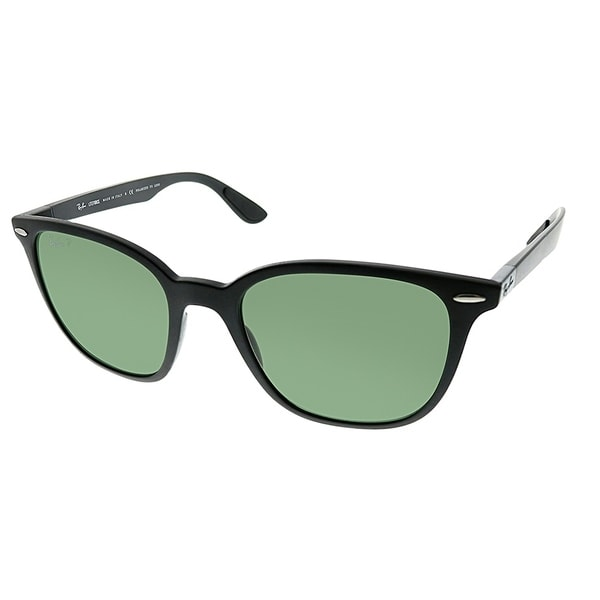 6a776672199 Ray-Ban Square RB 4297 601S9A Unisex Matte Black Frame Green Polarized Lens  Sunglasses